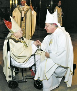 Bishop Finn with Cardinal Baum