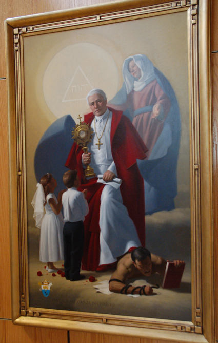 New Paintings Grace Cathedral S St Pius X Chapel The