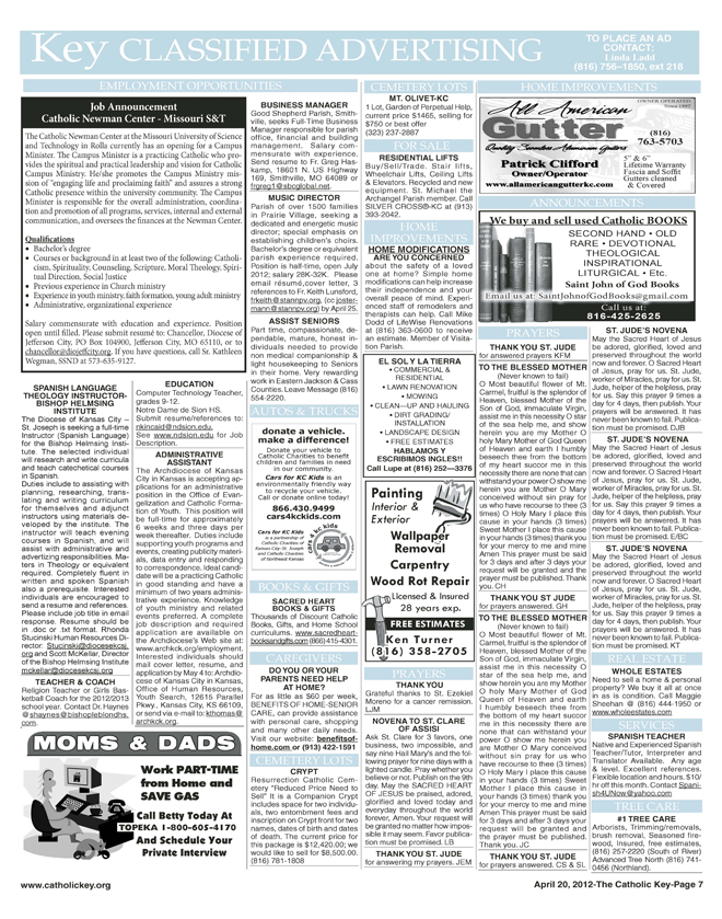 Key Classifieds - April 20, 20112