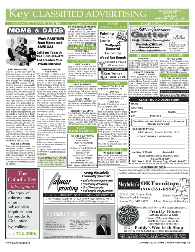 Key Classifieds - January 25, 2013