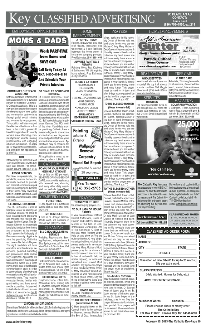 Key Classifieds, February 15, 2013