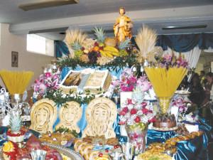 St. Joseph's Table at  Holy Rosary Parish in Kansas City. (photo courtesy  of Mary Morgan, St. Munchin Parish, Cameron)