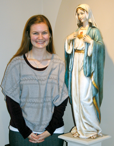 Beth Crandall, a native of Warrensburg, is a postulant for the Servants of the Lord and the Virgin of Matara. (Photo courtesy of Sara Kraft)