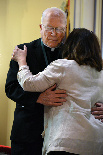 Father Patrick Tobin, grand marshal of the 2013 Kansas City St. Patrick's Day Parade, is installed into the Order of St. Patrick at the annual Gaelic Mass March 9 at Our Lady of Perptual Help (Redemptorist) Parish. (Kevin Kelly/Key photo)