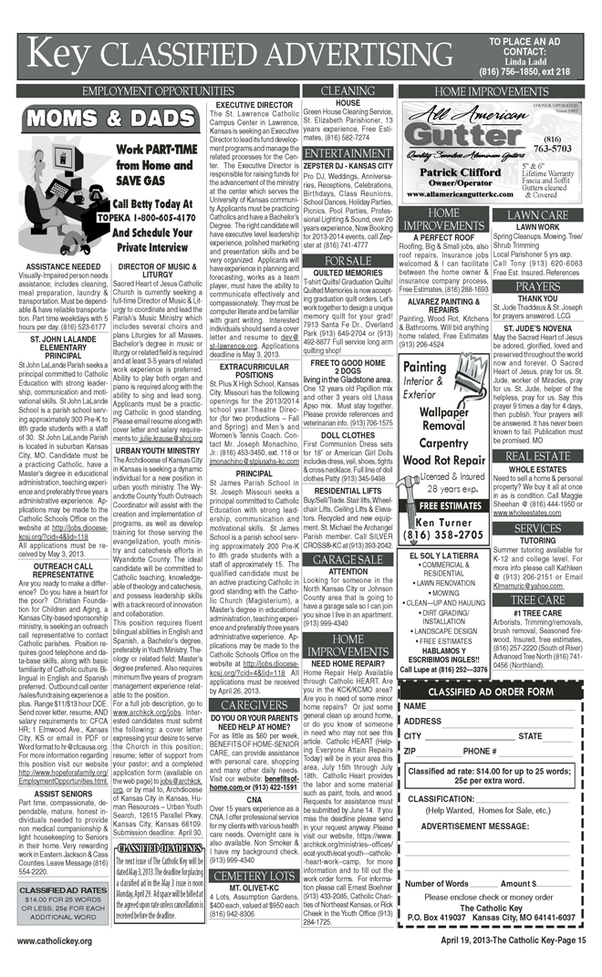 Key Classifieds - page 2 - April 19, 2013