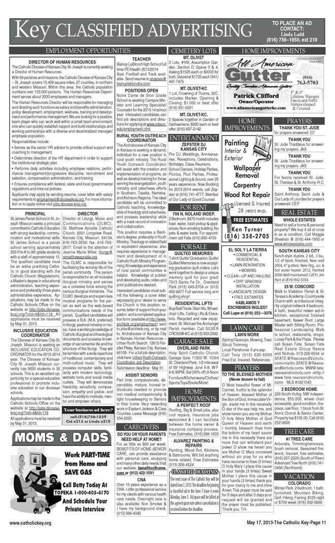 Key Classifieds - May 17, 2013