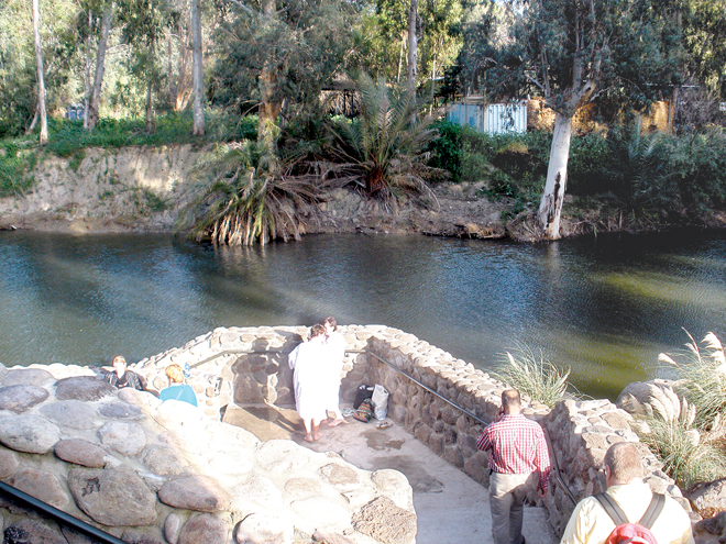 The Yardenit Baptismal site on the Jordan River. (Marty Denzer/Key Photo)