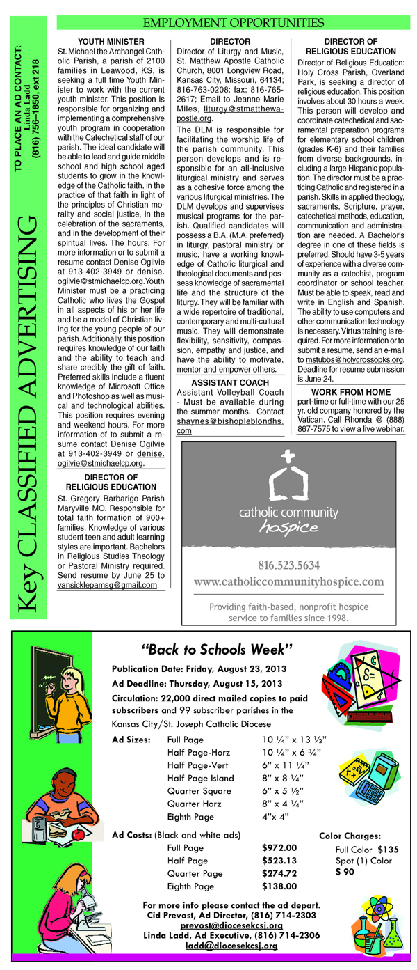 Key Classifieds - June 21, 2013 page 1