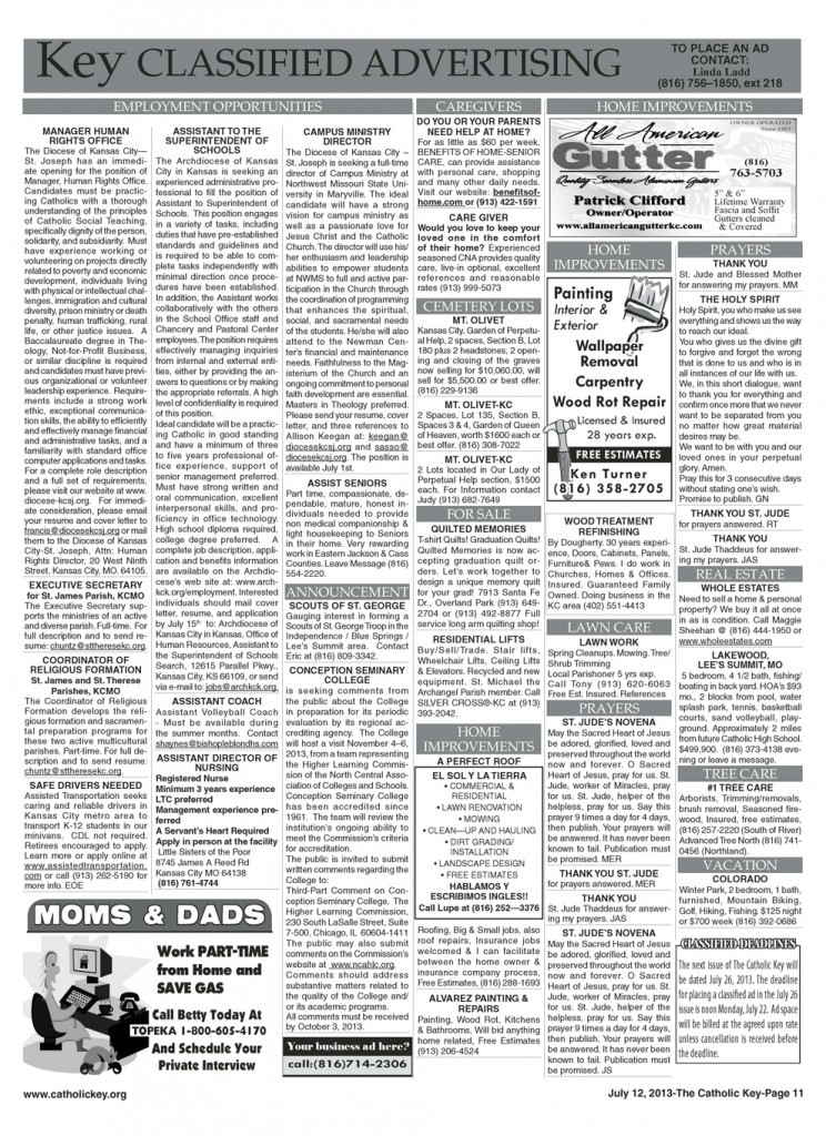 Key Classifieds - July 12, 2013