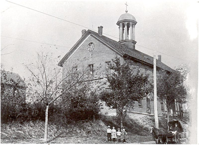 "The first Mount St. Scholastica monastery, ""a stately little building,"" was home to the first Benedictine Sisters who arrived in Atchison in 1863. (Photo courtesy The Benedictine Sisters of Mount St. Scholastica)"