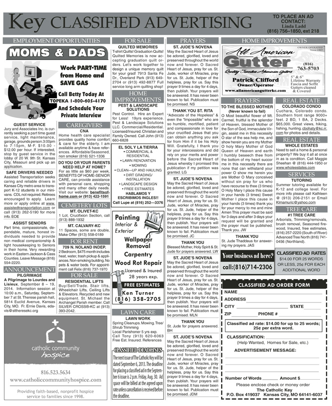Key Classifieds, August 23, 2013