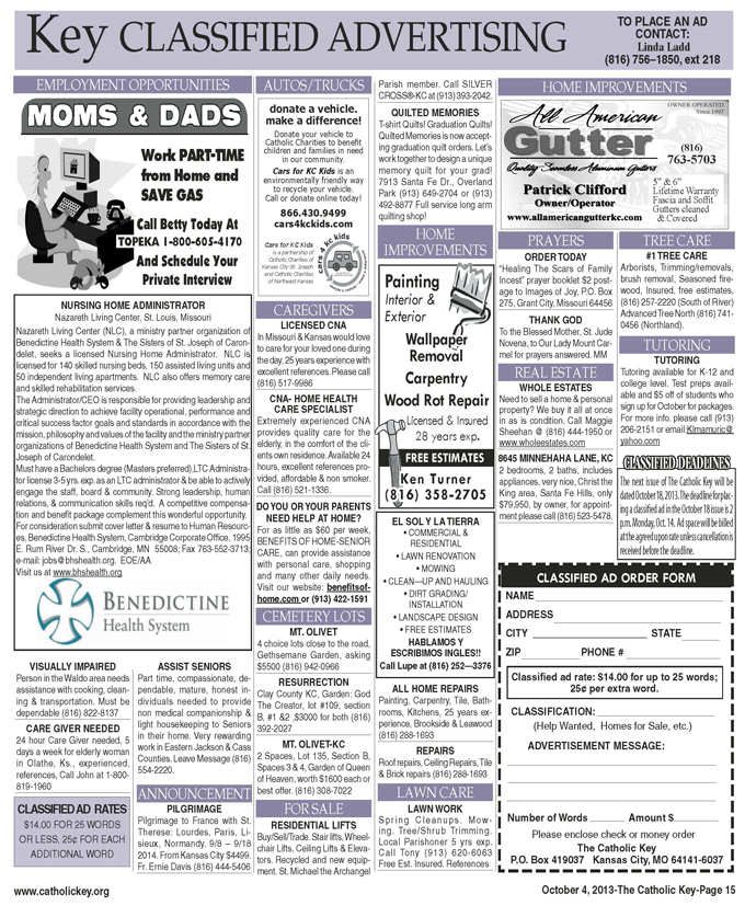 Key Classifieds - Oct. 4, 2013