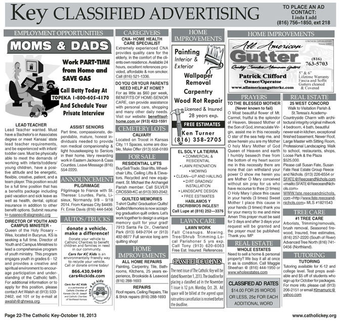 Key Classifieds - October 18, 2013