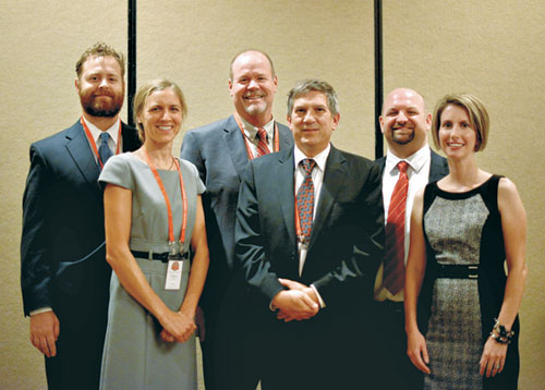 Dominic, Catherine, Joseph Ismert of Sioux Chief Manufacturing, Christopher Yep of Triune Health Group, and Religious Liberty Summit organizer Joshua McCaig and his wife Catherine.