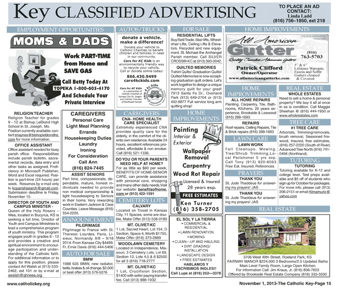 Key Classifieds _ November 1, 2013