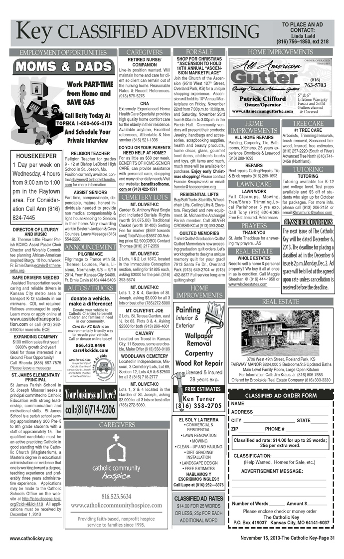 Key Classifieds - November 15, 2013