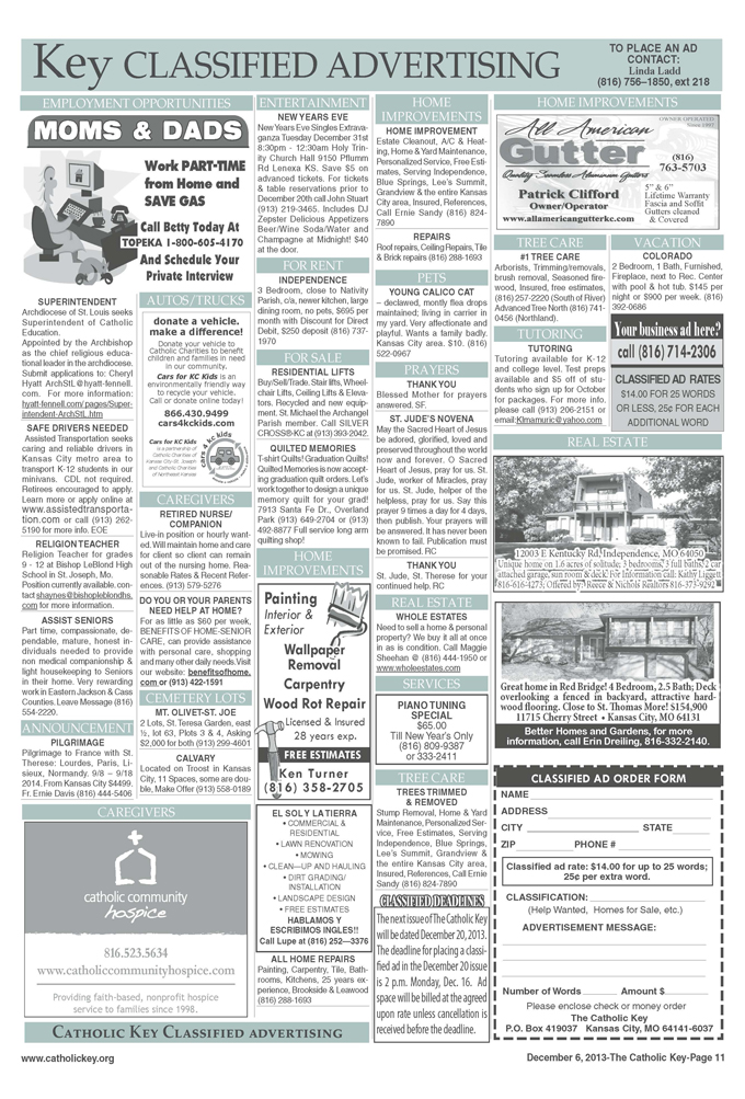 Key Classifieds - December 6, 2013