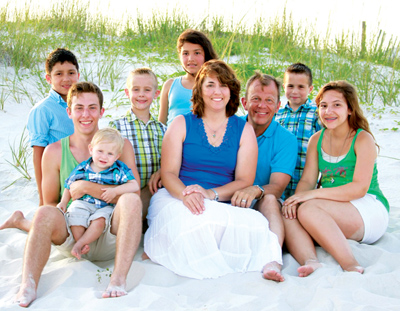 The Carlisle family vacationed in Gulf Shores, Ala., this past summer. Vince has family in Gulf Shores.  (Photo courtesy Leslie Carlisle)