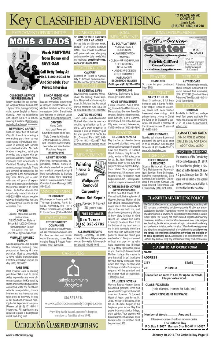 Key Classifieds, January 10, 2014