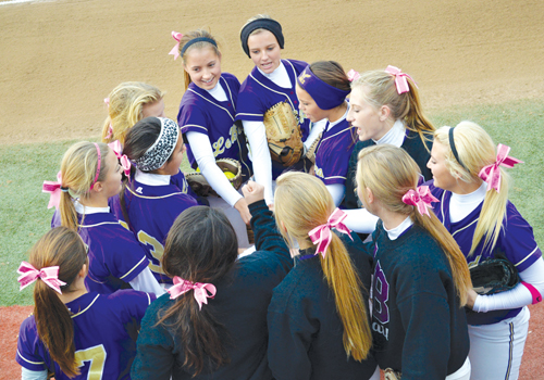 LeBlond's girls softball team wins Class II state championship title. (Photo/courtesy Kerry Shepherd, Bishop LeBlond High School)
