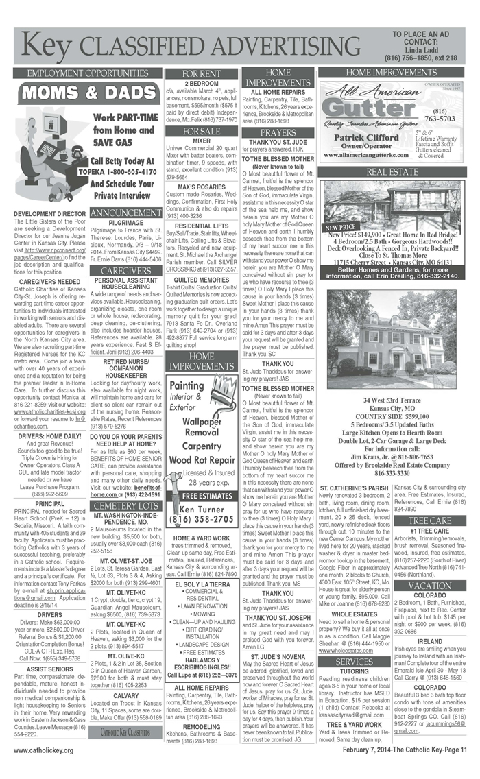 Key Classifieds - February 7, 2014