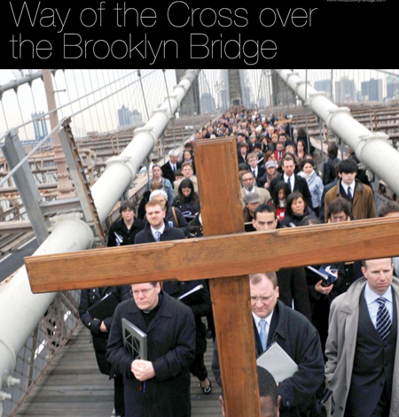 A public Way of the Cross has been sponsored by Communion and Liberation in New York since 1996 and has since spread to other cities. This second Kansas City event begins 4 p.m. on April 18 at the Cathedral of the Immaculate Conception.