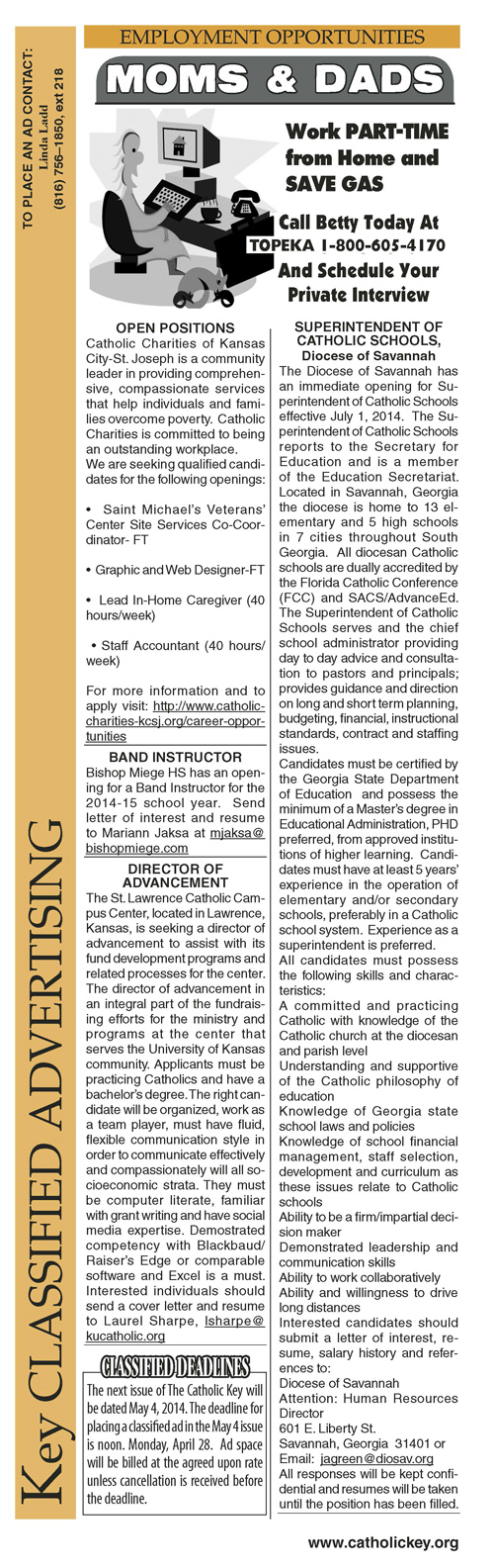 Key Classifieds - April 18, 2014, page 1
