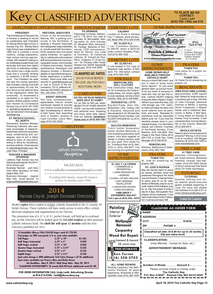 Key CLassifieds - April 18, 2014, page 2