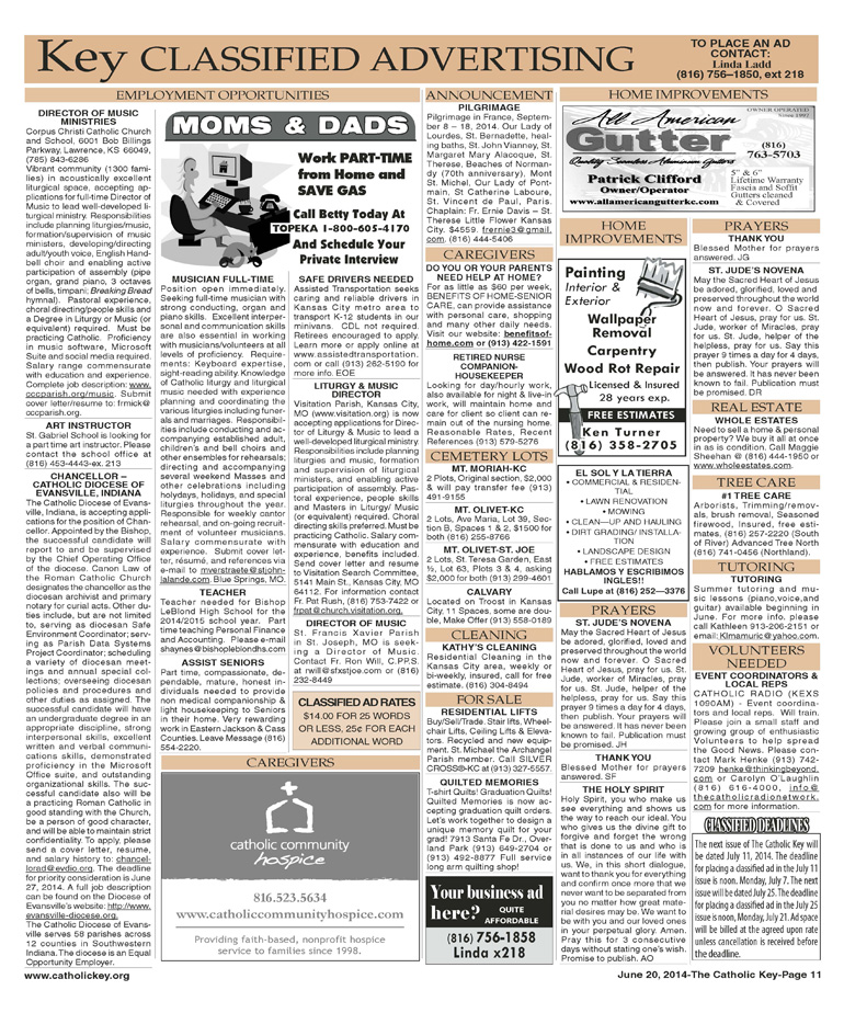 Key Classifieds - June 20, 2014