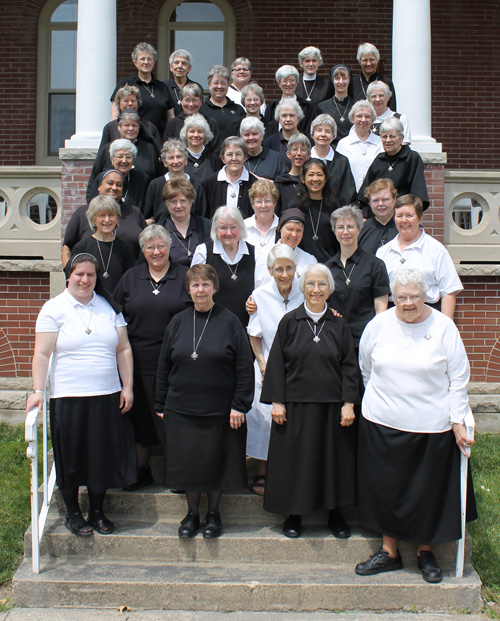 Thirty-nine members of the Benedictine Sisters of Perpetual Adoration served as official delegates to the 16th General Chapter meeting held in June at the Clyde, Mo., monastery.  (photo courtesy of Kelly Baldwin)