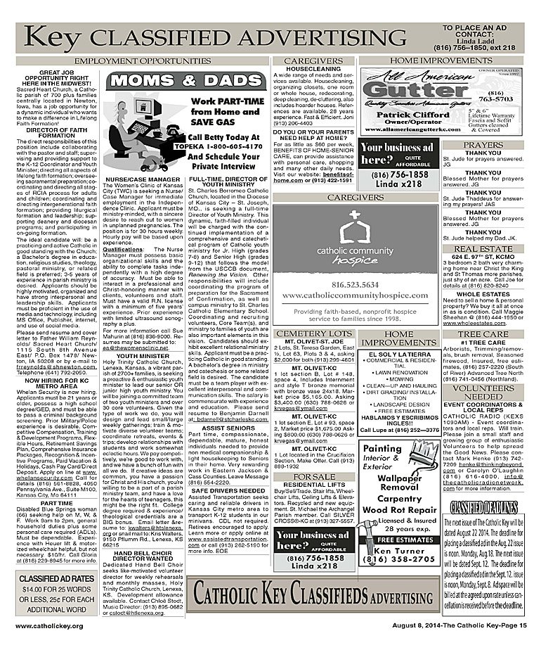 Key Classifieds - August 8, 2014