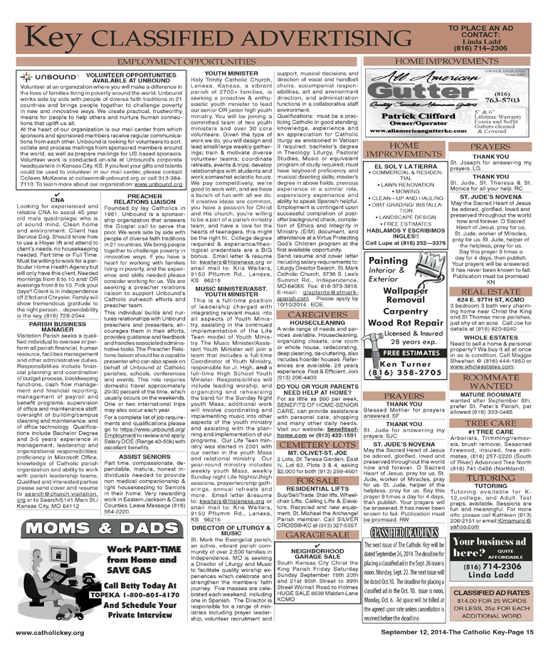 Key Classifieds - Sept. 12, 2014