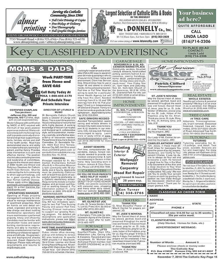 Key Classifieds - November 7, 2014