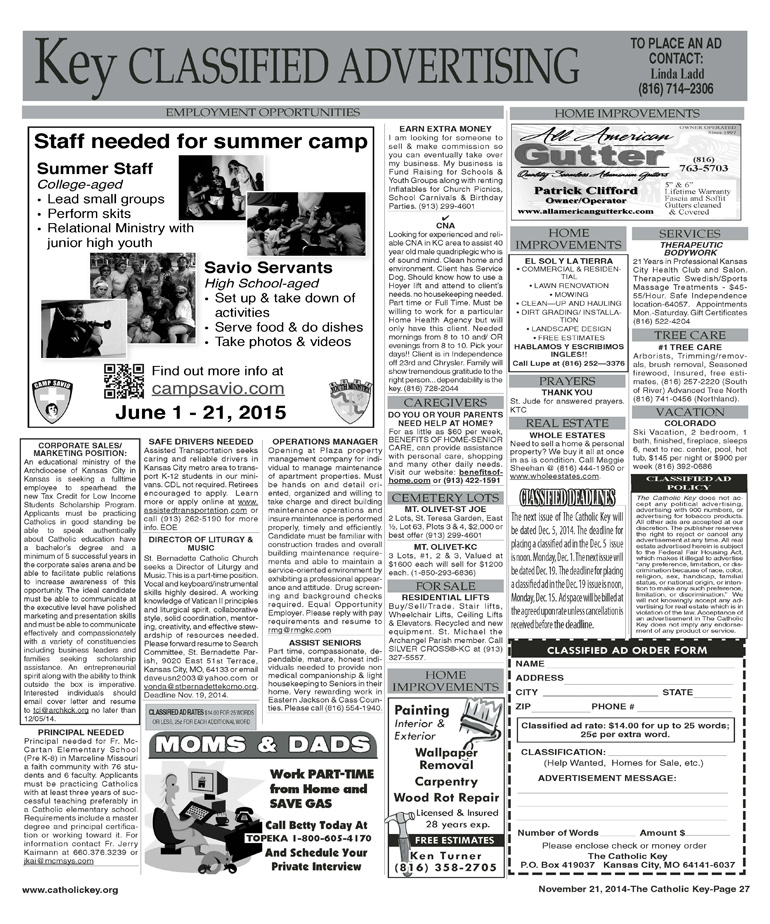 Key Classifieds - November 21, 2014