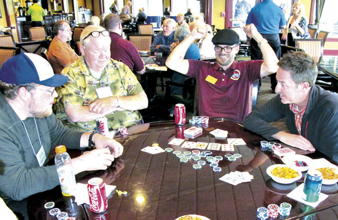 Serrans at the Poker table at the annual Priests and Seminarians Appreciation Day. (photo courtesy Dick Shaw)
