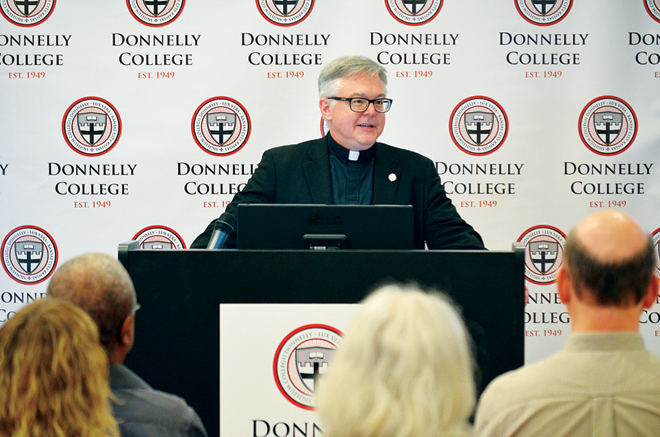 Monsignor Stuart Swetland, President of Donnelly College. Photo courtesy Donnelly College