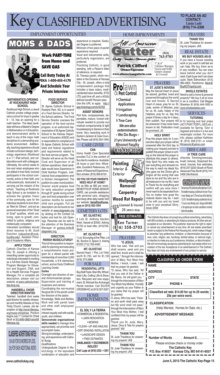 Key Classifieds - June 5, 2015, page 2
