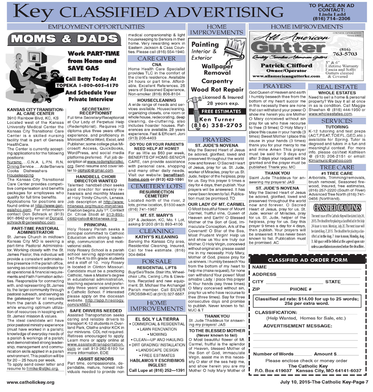 Key Classifieds- July 10, 2015