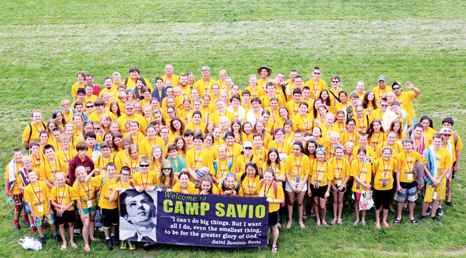 For the second session of Camp Savio in Atchison, Kan., 120 middle school age campers gathered to learn, grow in faith and have fun. (photo courtesy of Vitoria Silva)