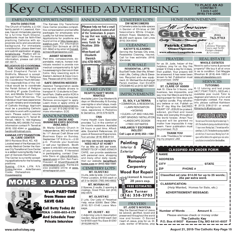 Key Classifieds - August 21, 2015