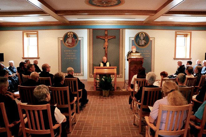 The newly renovated Chapter Room at Conception Abbey. (photo courtesy of Conception Abbey)