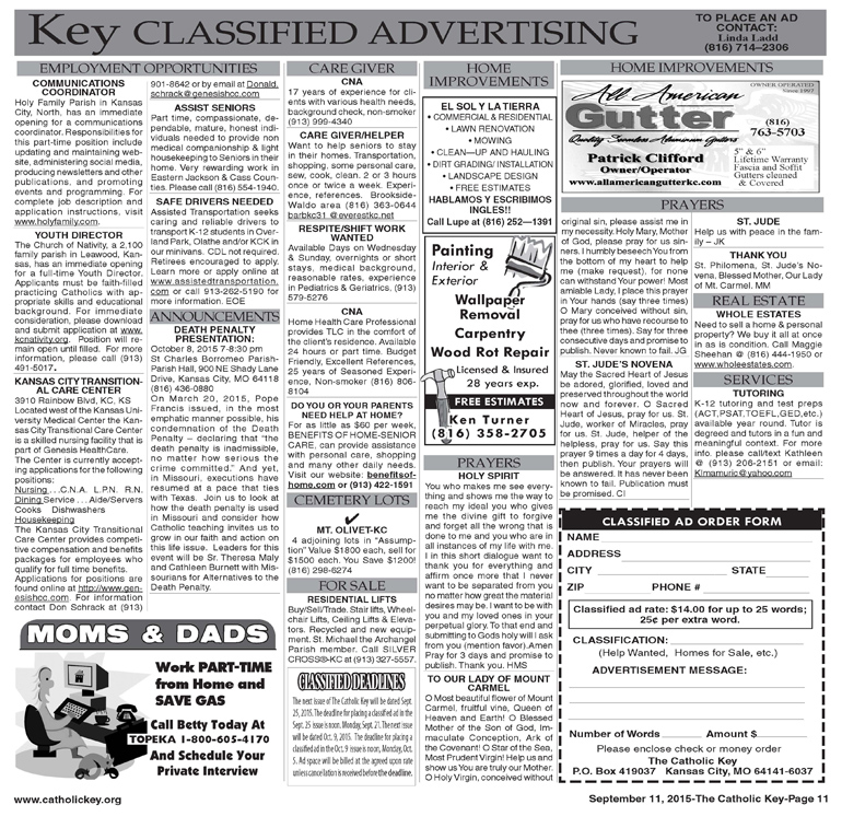 Key Classifieds - Sept. 11, 2015