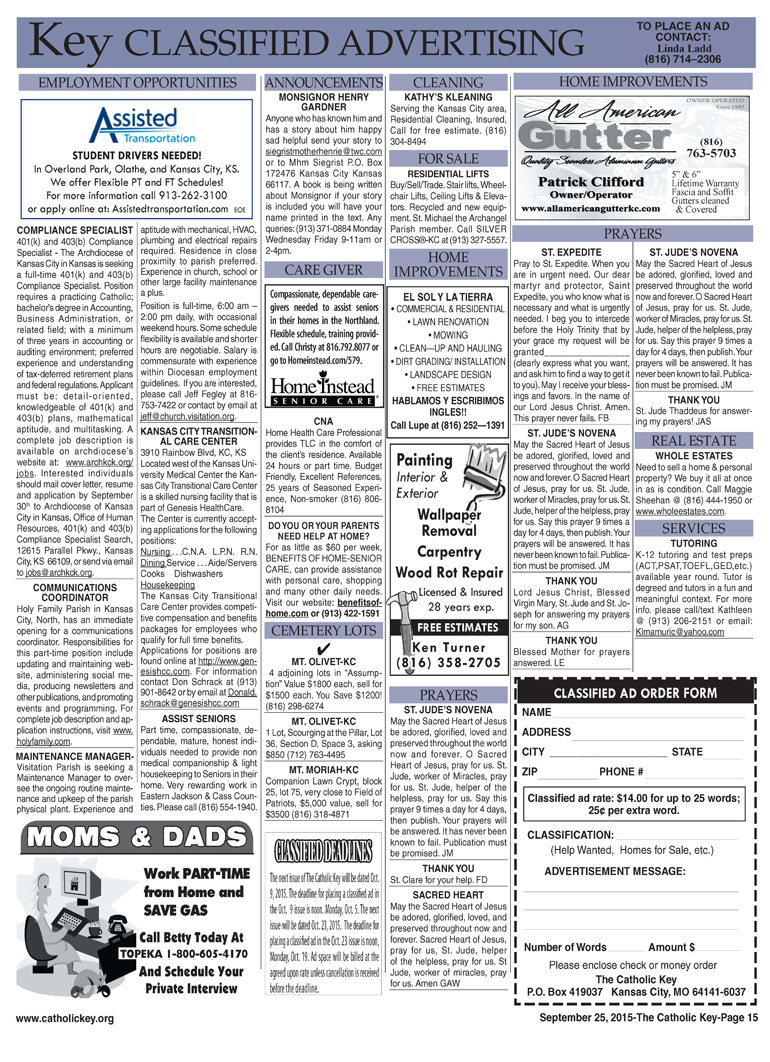 Key Classifieds - September 25, 2015