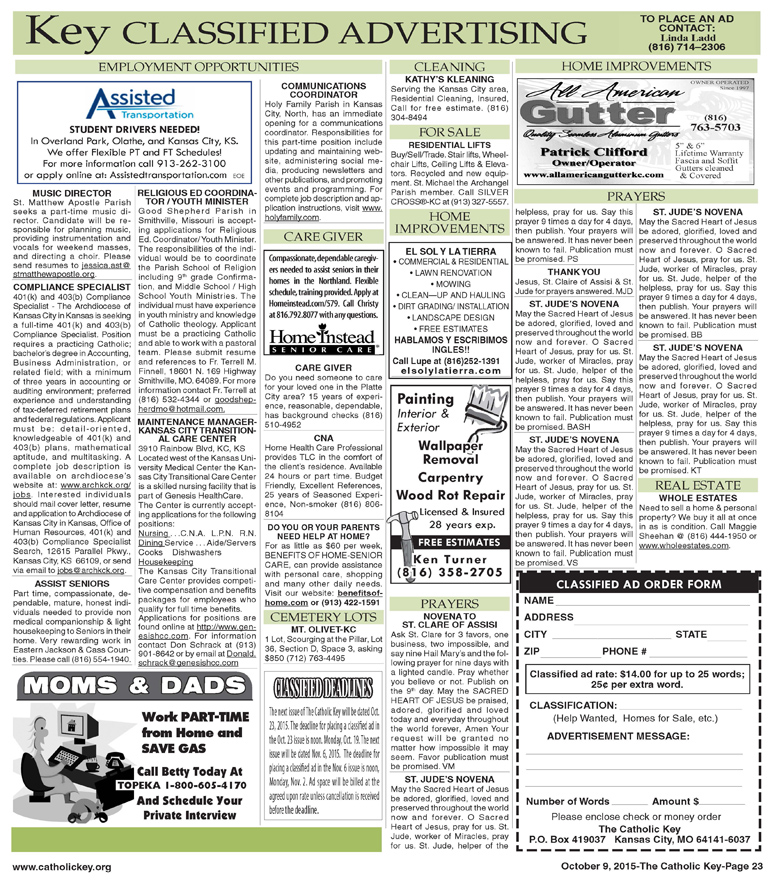 Key Classifieds - October 9, 2015