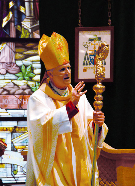 Bishop Johnston blesses the congregation at the conclusion of the Installation Mass. (Joe Cory/Key photo)