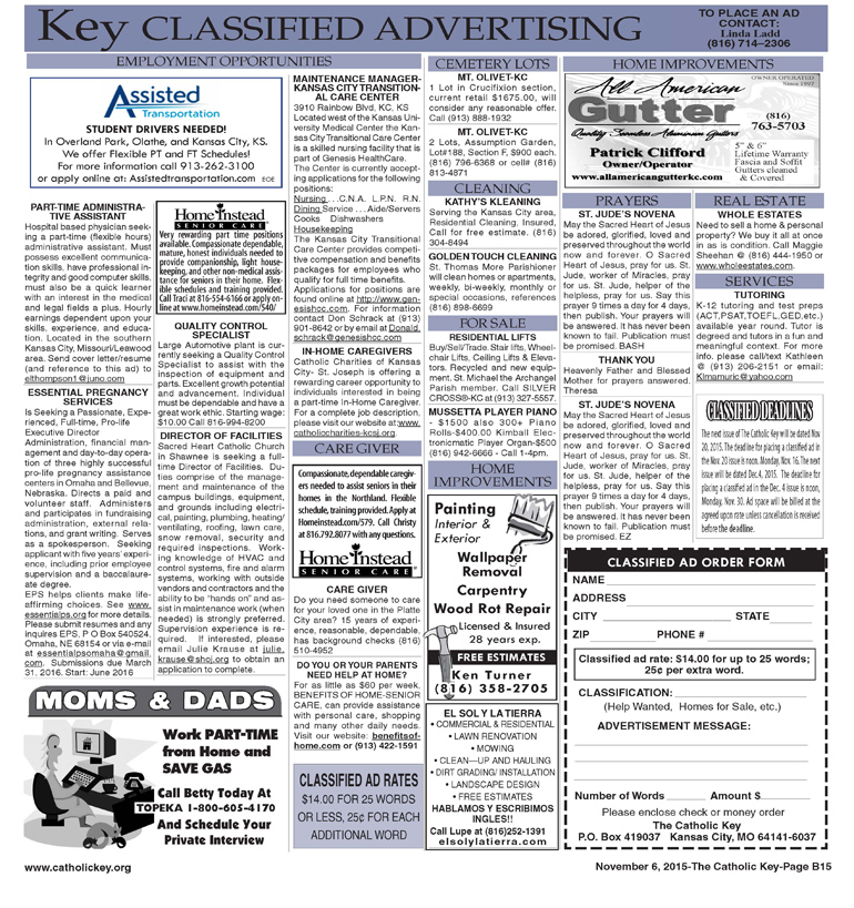 Key Classifieds - November 6, 2015