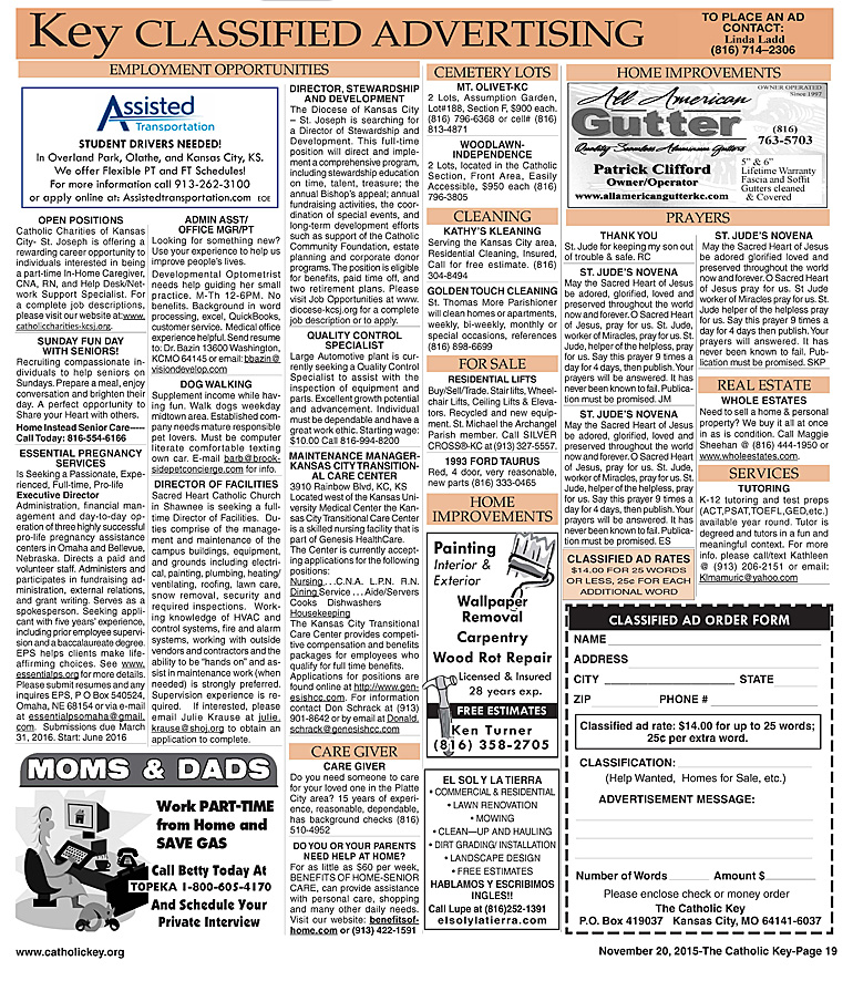 Key Classifieds, November 20, 2015