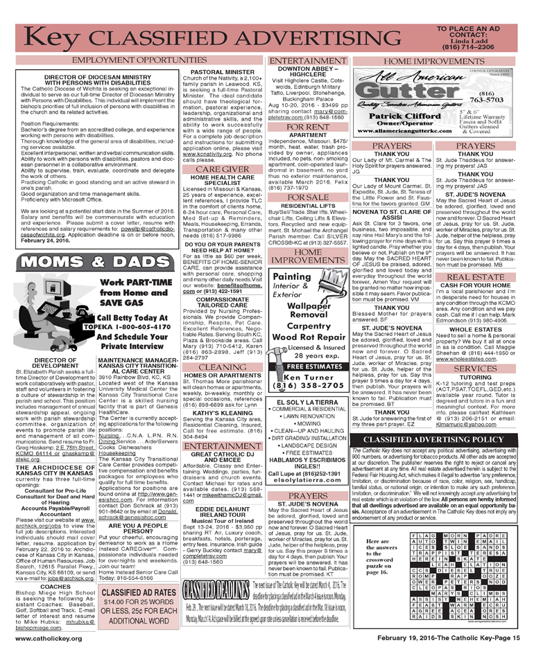 Key Classifieds - February 19, 2016