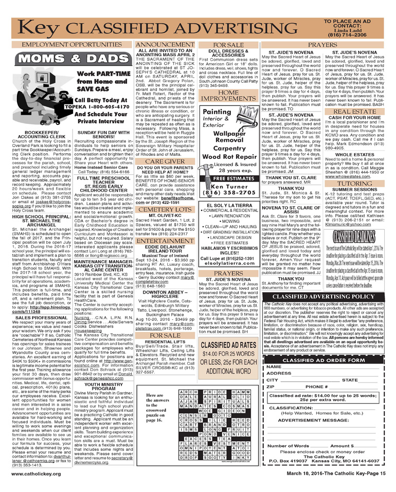 Key Classifieds - March 18, 2016