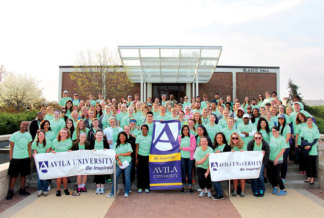 Founded by the Sisters of St. Joseph of Carondelet a century ago, Avila University is a place where students can be inspired. Its students continue to embrace inspiration, service and education going forward into their future. (Photo courtesy Avila University)